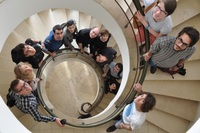 the innovators nation team in the stairs weizmann house